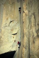 Saliendo del pankake flaque L24 de la Nose - Yosemite