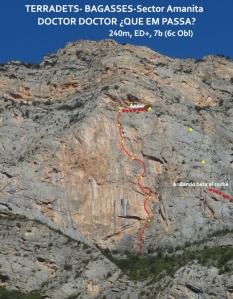 Vista general de la vía y el descenso..