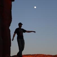 Jugando con la luna..