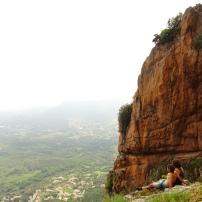 Disfrutando de las vistas en Gozi